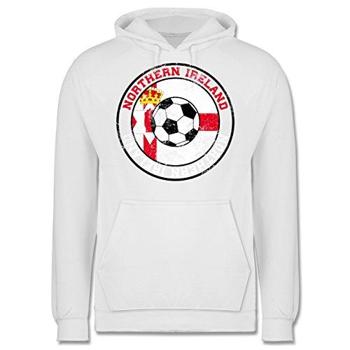 EM 2016 - Frankreich - Northern Ireland Kreis & Fußball Vintage - Männer Premium Kapuzenpullover / Hoodie Weiß