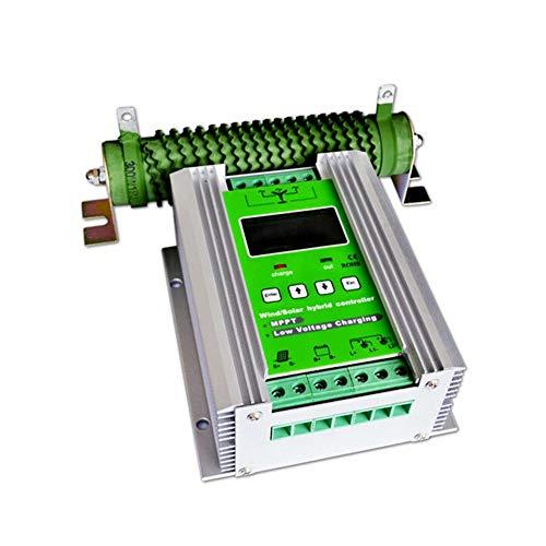 Controlador de Carga Solar Híbrido de 1000 W, con Parrilla de Apagado MPPT y Turbina de Viento 800W