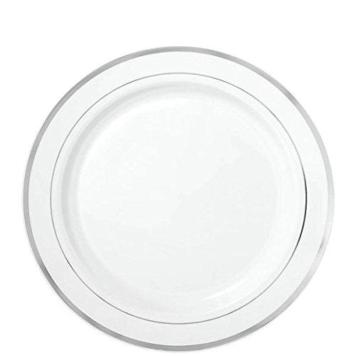 m Premium Kunststoff Teller mit Rand ()