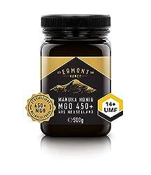 Egmont Honey Manuka-Honig 450+ MGO original aus Neuseeland UMF 14+ - 100% rein, zertifiziert, 500 g