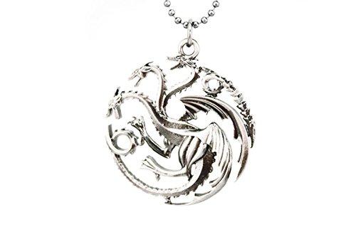 fefe077c3eef Lureme juego de tronos inspirado Targaryen plata antigua colgante collar  pendiente