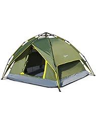 Outsunny Tente de Camping Ouverture Automatique 3-4 Personnes Multifonction Pliante Etanche Sac de Transport 2.3 x 2 x 1.35m Vert