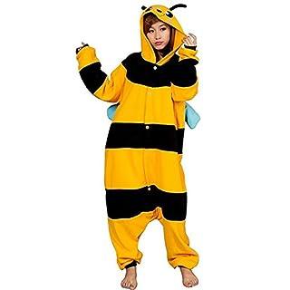 Katara 1744 - Grenouillère Combinaison pour Adultes Tenue de Nuit Pyjama Kigurumi Costume - Taille S, 145-155cm Abeille