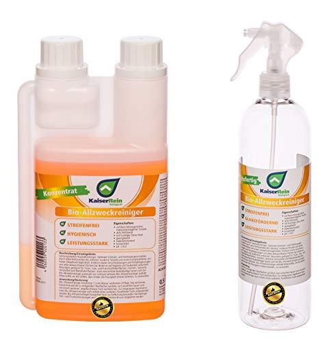 KaiserRein BIO Allzweckreiniger Konzentrat 0,5 L (500ml) Alles-Reiniger Spray mit frischem Orangen Duft -
