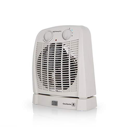 Orbegozo FH 7001 – Calefactor baño con movimiento oscilante, 2 niveles de calor y modo ventilador de aire frío. 2000 W de potencia