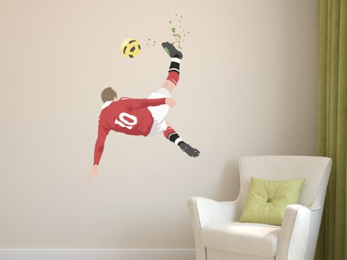 beautiful-game-5055851434707-testa-di-stampa-manchester-united-rooney-muro-muro-calcio-della-decalco