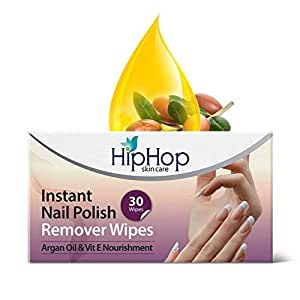 Hip Hop Nail Polish Remover Wipes, 30 Wipes