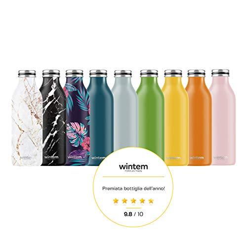 Smart Water Bottle Cup Hot Thermos 500ml Ricaricabile Vuoto Bottiglia Termica in Acciaio Inox con LCD Touch Screen Acqua Potabile Promemoria Temperature Indicate Sport Flaconi