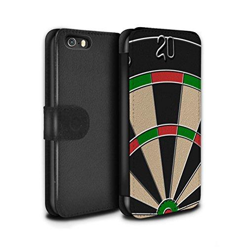 Stuff4 Coque/Etui/Housse Cuir PU Case/Cover pour Apple iPhone 5/5S / Jeu de Fléchettes/Triple 20 Design / Jeux Collection Jeu de Fléchettes/Triple 20