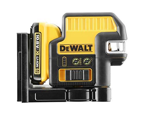 DEWALT DCE0822D1G-QW - Láser autonivelante de 2 líneas en cruz (Horizontal y vertical) y 2 puntos - Incluye batería DW 10,8V Litio - VERDE