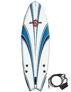 Alder Delta Hybrid Fish Planche de surf souple 6 5 m Blanc/Bleu
