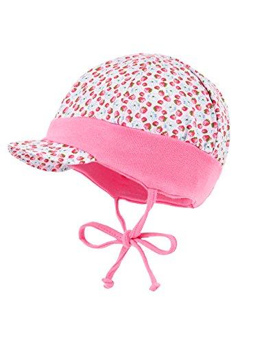 maximo Baby-Mädchen Mütze Schildmütze Erdbeere mit Bindeband, Jerseyeinsatz...