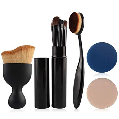 9 Stück Makeup Pinsel hoher Qualität synthetische Fundament Pulver Schattierung Eye Shadow Makeup Pinsel Set (schwarz) -