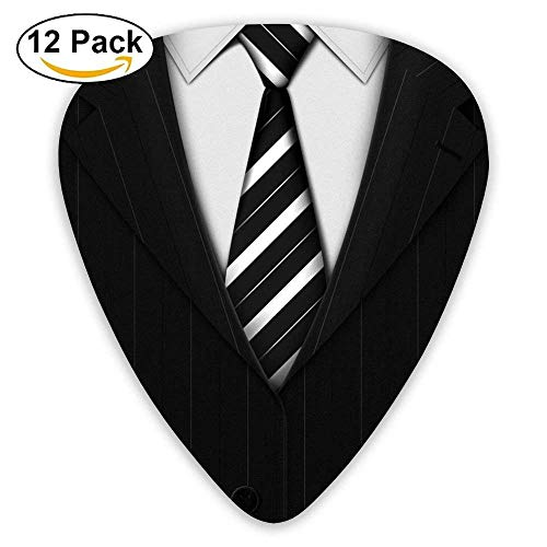 Straight Black Suit Custom Guitar Picks For Electric Acoustic Best Music Gift (12pack)