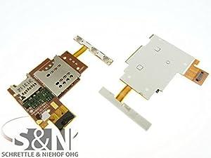 NG-Mobile Sony Xperia J ST26i Kontakte Simleser Schacht Kartenleser Einschub Flex Kabel Leitung Verbindung