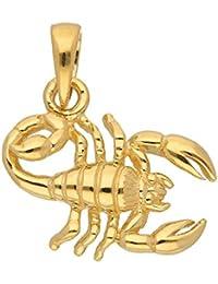 Gold 14 k ( 585 ) Sternzeichen Anhänger - Skorpion - B. 14,5 mm - H. 10,9 mm