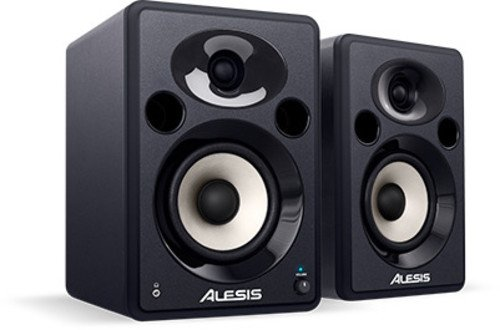 Alesis Elevate 5 Platzsparende flexible aktiv Desktop Monitor Sprecher (für Multimedia Studio & PC Mac) -