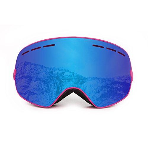OCEAN SUNGLASSES Cervino Sonnenbrille Schnee Polarisiert Unisex Erwachsene, Pink Frame/Revo Blue Lens