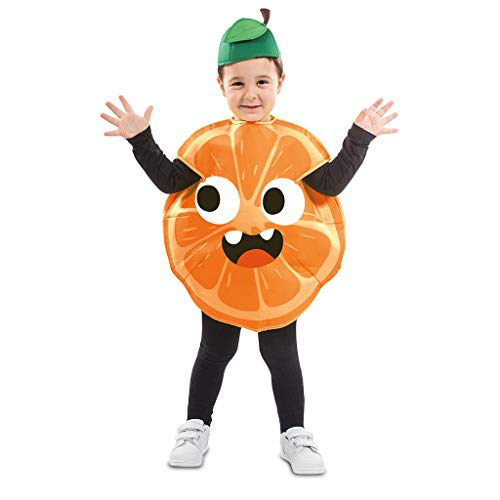 EUROCARNAVALES Kinder Kostüm Früchtchen 3-4 Jahre Frucht-Verkleidung Obst (Orange) (Kinder Lebensmittel Kostüm)