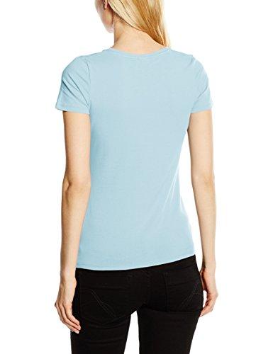 Fruit of the Loom SS081M, T-Shirt Femme Bleu (Sky Blue)