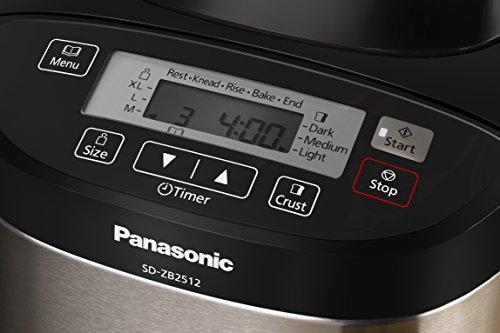 Panasonic SD-ZB2512KXE - Panificadora con dispensador (33 modos preprogramados), color plateado
