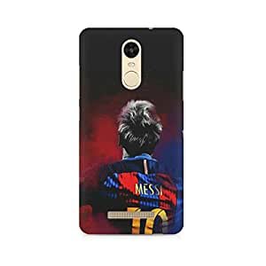 Printed back cover for Xiaomi Redmi Note 3 by Motivatebox.Lionel Messi Barca design, Polycarbonate Hard case with premium quality and matte finish
