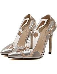 ZPFME Tacones De Aguja Cerrados De Las Mujeres Sandalias De Tacón Alto Atractivas Del Partido De Las Señoras Zapatos De Punta Estrecha Zapatos De Boda De La Tarde Bombas De Tiras