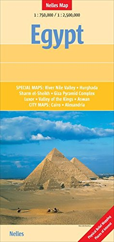 Preisvergleich Produktbild Egypt 1 : 750 000 / 1 : 2 500 000: Special maps: River Nile Valley, Hurghada, Sharm el-Sheikh, Giza Pyramid Complex, Luxor, Valley of the Kings, Aswan ... (Nelles Map) (Nelles Map / Strassenkarte)