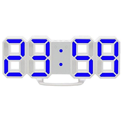 Pawaca LED Digital-Wecker Dimmbar, Digital LED Tisch & Wanduhr Wecker mit Einstellbarer Helligkeit Funktion (LED Tischuhr)