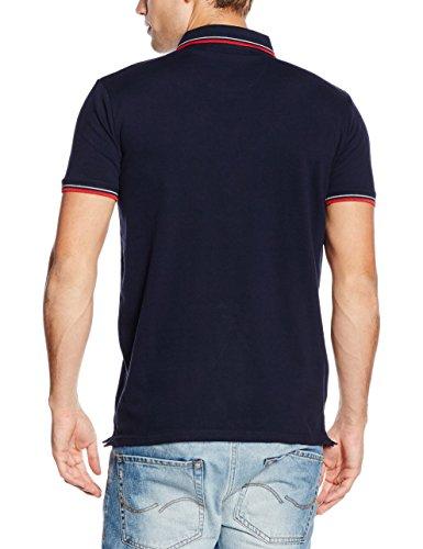 Schott NYC Herren Poloshirt Harbour Blau - Blau (Marineblau)