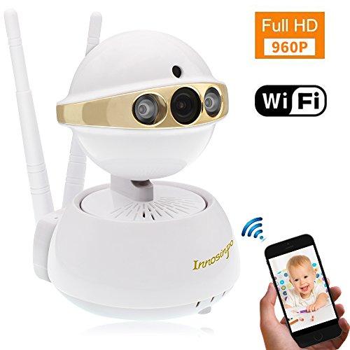 Ip camera wireless, innosinpo 960p hd wifi videocamera di sorveglianza wireless wifi camera baby cane ip cam con 355°/120° girevole, rilevatore di movimento, visione notturna, telecomando