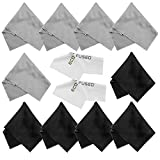 Microfiber Cleaning Cloths - 10 Colorful Cloths and 2 White...