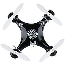 Cheerson® CX-10A Mini Drone Cuadricóptero Quadcopter RTF - 2.4G 4CH 6 Ejes Modo sin Cabeza RC Minicóptero (Negro)