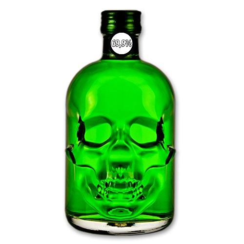 """Absinthe""""Amnesie"""" - 69,9% - 0,5 l - Absinthe - Totenkopfflasche - Wermut - Thujon - Totenkopf/Skull - Flasche - Erhöhter Thujongehalt"""