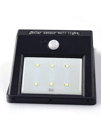 ZQ moto solare luce sensore 6 ha condotto pir sicurezza lampada da parete capannone (Capannone All'aperto)