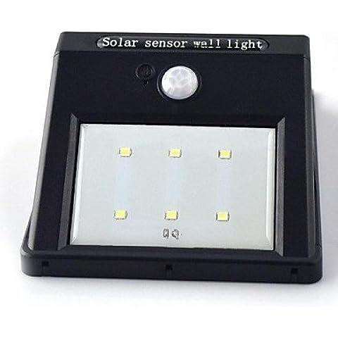 GG moto solare luce sensore 6 ha condotto pir sicurezza lampada da parete capannone (Capannone All'aperto)