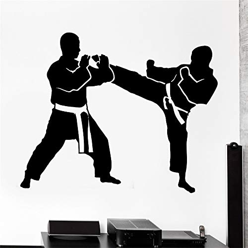 Muur Stcker Sport Karate Taekwondo Kampf Vinyl Aufkleber grün 44x57cm