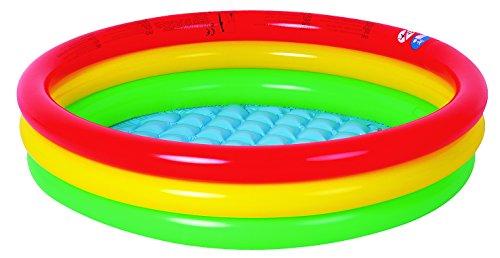 Jilong Baby Pool Ø 150 x 29 cm Kinderpool mit aufblasbarem Boden Planschbecken mit Sicherheitsboden Schwimmbecken Kinder Schwimmbad für Garten und Terasse