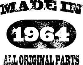 Mister Merchandise Tote Bag Made in 1964 All Original Parts 51 52 Borsa Bagaglio , Colore: Nero Naturale