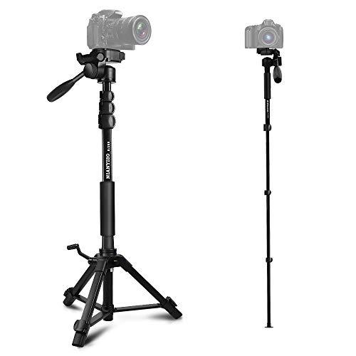 Kamera Stativ Aluminiumlegierung Stativ Kompakt Leichtes Stativ für Smartphone DSLR SLR Canon Nikon Sony Olympus mit Handy Halterung Tragetasche (BJ-368)