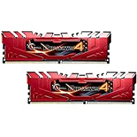 G.SKILL Ripjaws 4 Series F4-2800C16D-8GRR DDR4 2800 MHz 8 GB Memory Kit - Red