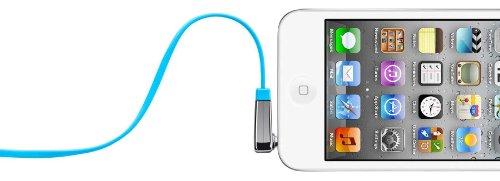 Belkin flaches Audio-Kabel (3,5 mm auf 3,5 mm mit abgewinkeltem Klinkeanschluss, 0,9 m) blau -