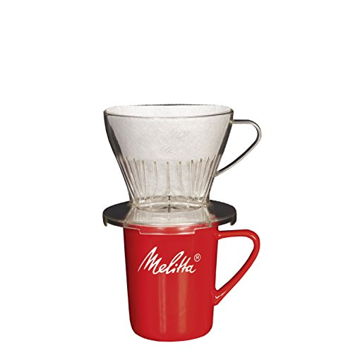 Melitta Kaffee-Set, Kaffeehalter für Filtertüten und Porzellan-Tasse, Kaffeefilter 1x2 Premium,...