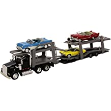 Nuovo Ray - 15215 Bss - Pronti veicolo - modello per la scala - American Truck trasporto Auto 3 auto d'epoca - Scala 1/43