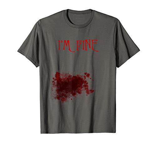 Shirt Zombie Kostüm Weiß T - Bloody Zombie Bite Scary Halloween-Kostüm T-Shirt