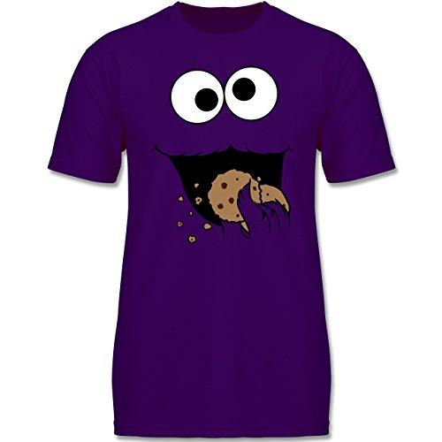 Karneval & Fasching Kinder - Keks-Monster - 164 (14-15 Jahre) - Lila - F140K - Jungen T-Shirt (Monster-kostüm Lila)