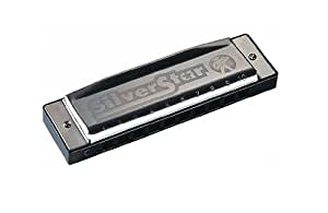 Hohner M50401S Harmonica with 10 Holes (Silver)