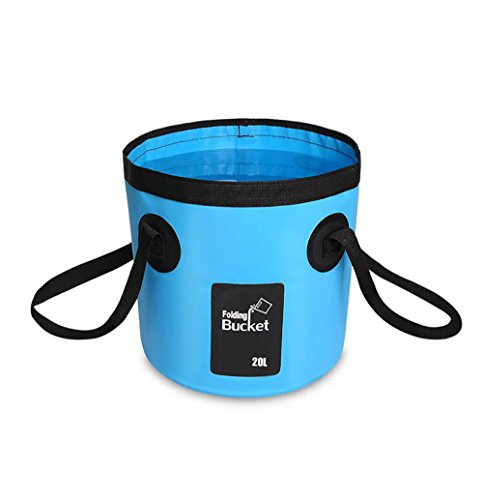 Multifunktional Eimer Wassereimer Outdoor Faltbar Waschbecken Faltschüssel Spülbecken 12L,20L,Blue,20L