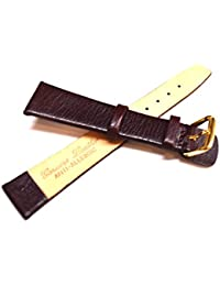 Genuine Leather Anti-Allergic Brown Watch Strap 8mm up to 20mm (12mm)