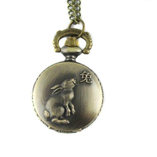 mapofbeauty-bronze-chinese-zodiac-rabbit-pattern-case-quartz-pocket-watch